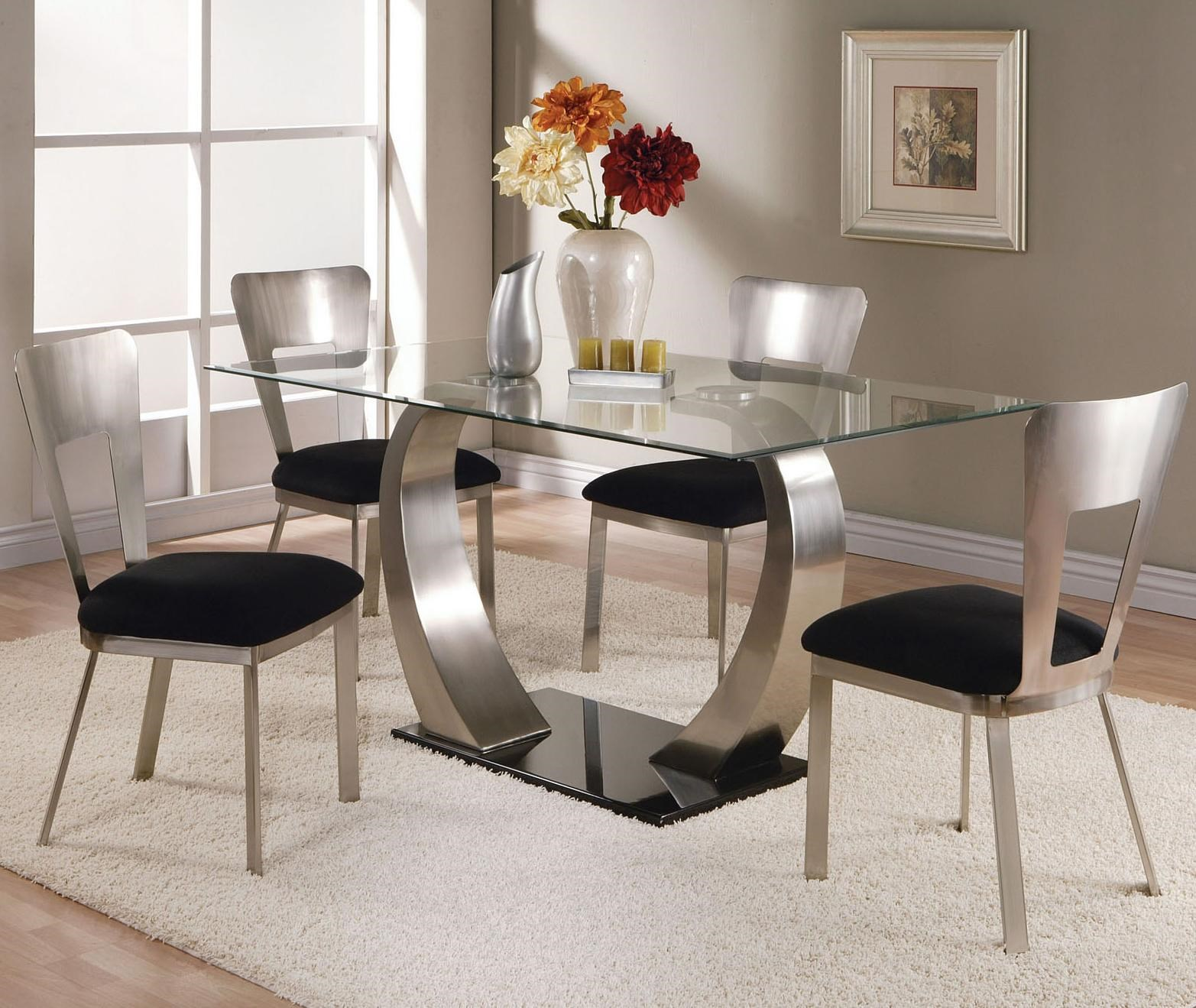 Acme Furniture Camille 5 Piece Dining Table And Side Chair Set   Household  Furniture   Dining 5 Piece Set