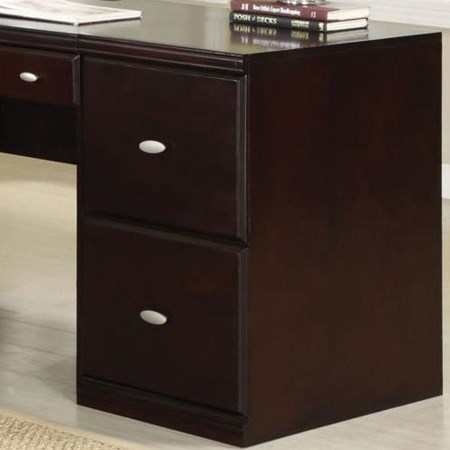 Espresso File Cabinet with Two Drawers