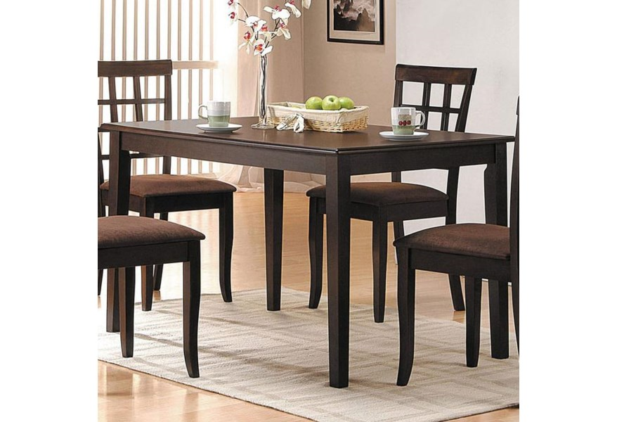 Acme Furniture Cardiff Espresso Rectangular Dining Table Rooms For Less Kitchen Table