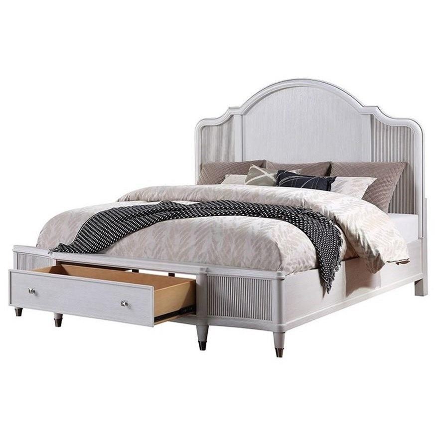 Coastal Style Queen Storage Bed