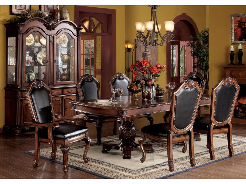Shown with Dining Table, Dining Arm Chair, Buffet and Hutch