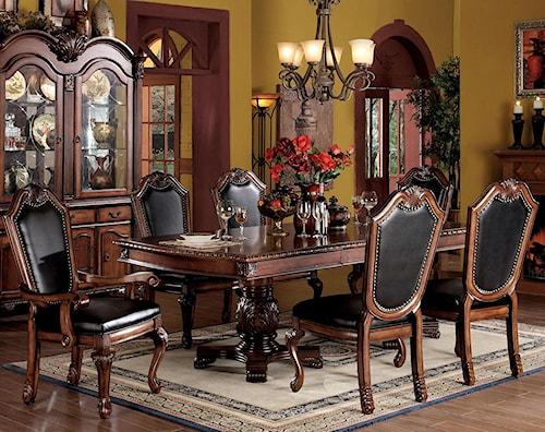 Acme Furniture Chateau De Ville 7 Piece Formal Dining Set