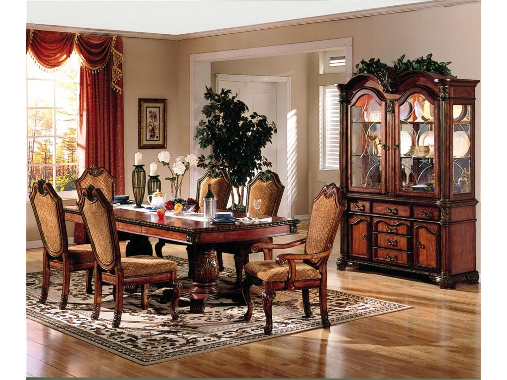 Shown With Dining Side Chairs, Table, and China Cabinet