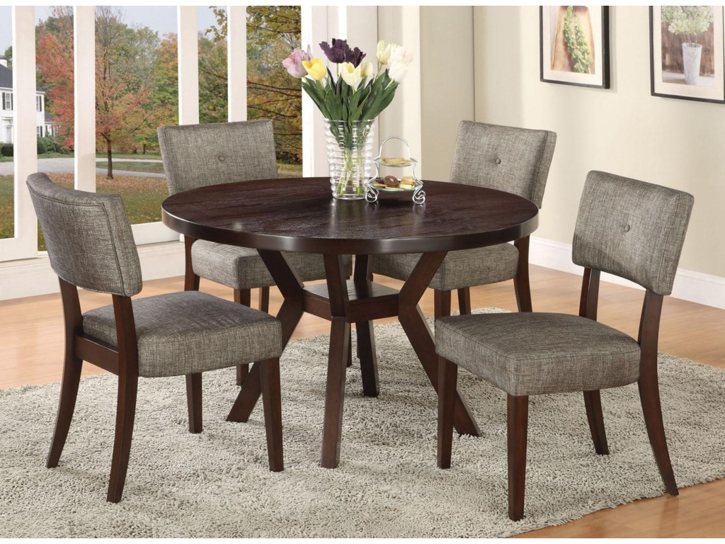 Acme Furniture Drake Espresso 5 Piece Modern Dining Set ...