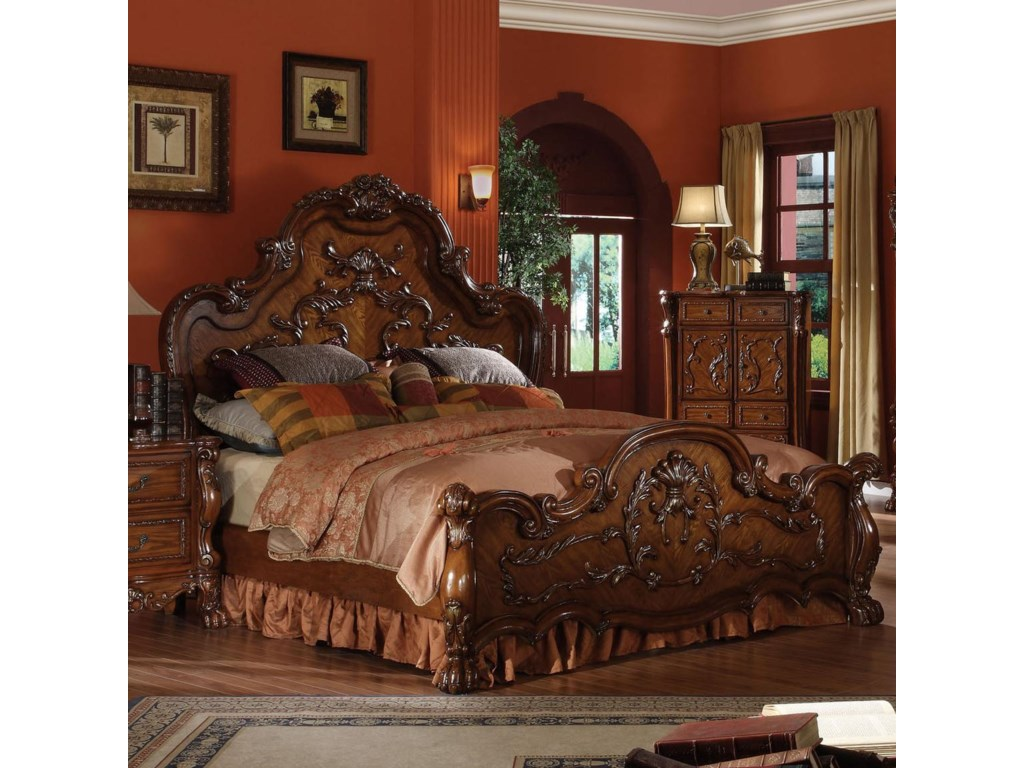 online store 6c41b ef41c Dresden Queen Carved Bed by Acme Furniture at Dream Home Interiors