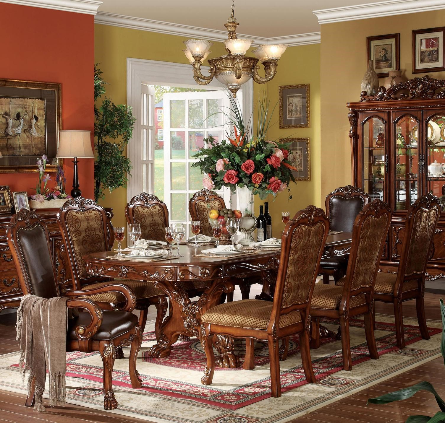 Acme Furniture Dresden 9 Piece Dining Table And Chair Set   Household  Furniture   Dining 7 (or More) Piece Set