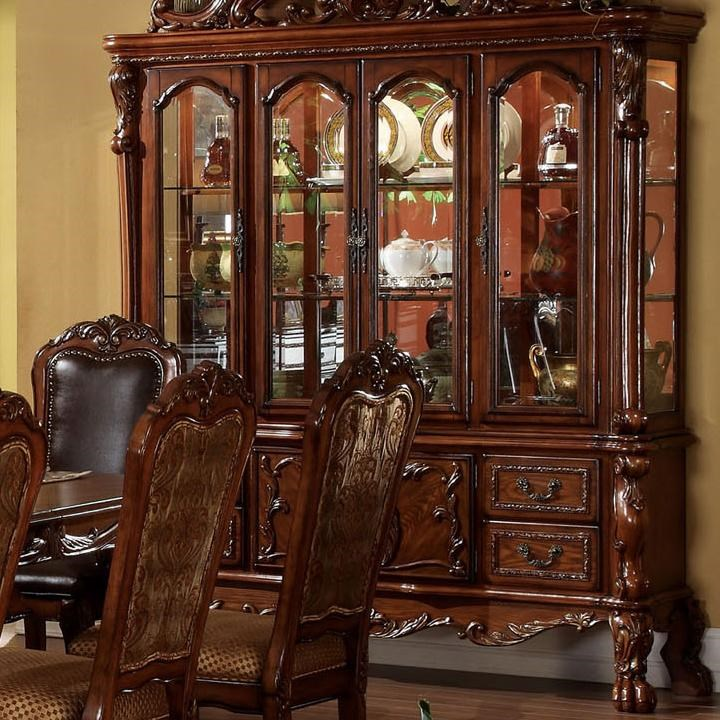 Home Dining Room Furniture China Cabinet Acme Dresden Hutch And Buffet DresdenHutch