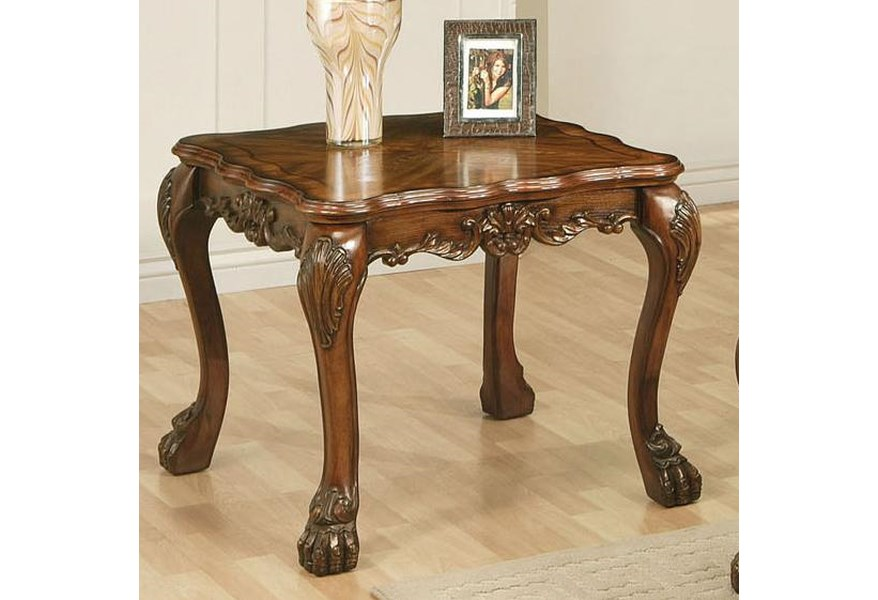 Acme Furniture Dresden Square End Table Rooms For Less End Tables