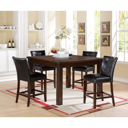 Counter Height Dining Set with 4 Chairs
