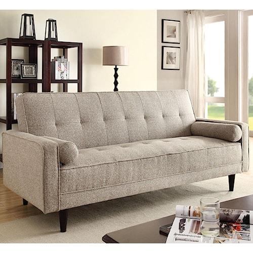 Acme Furniture Edana Sand Linen Adjule Sofa With 2 Pillows
