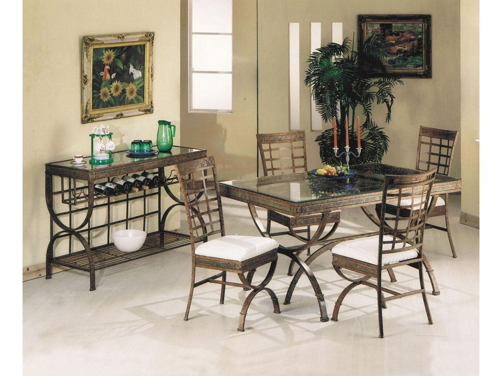 Shown with Dining Side Chairs & Server
