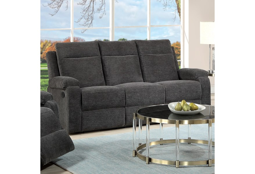 Acme Furniture Elijah 55115 Contemporary Motion Sofa With External Latch Handle | Del Sol Furniture | Reclining Sofas