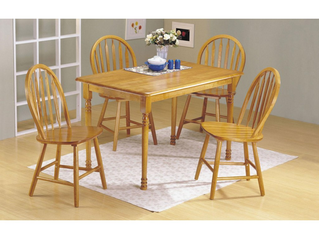 Shown with Rectangular Leg Table