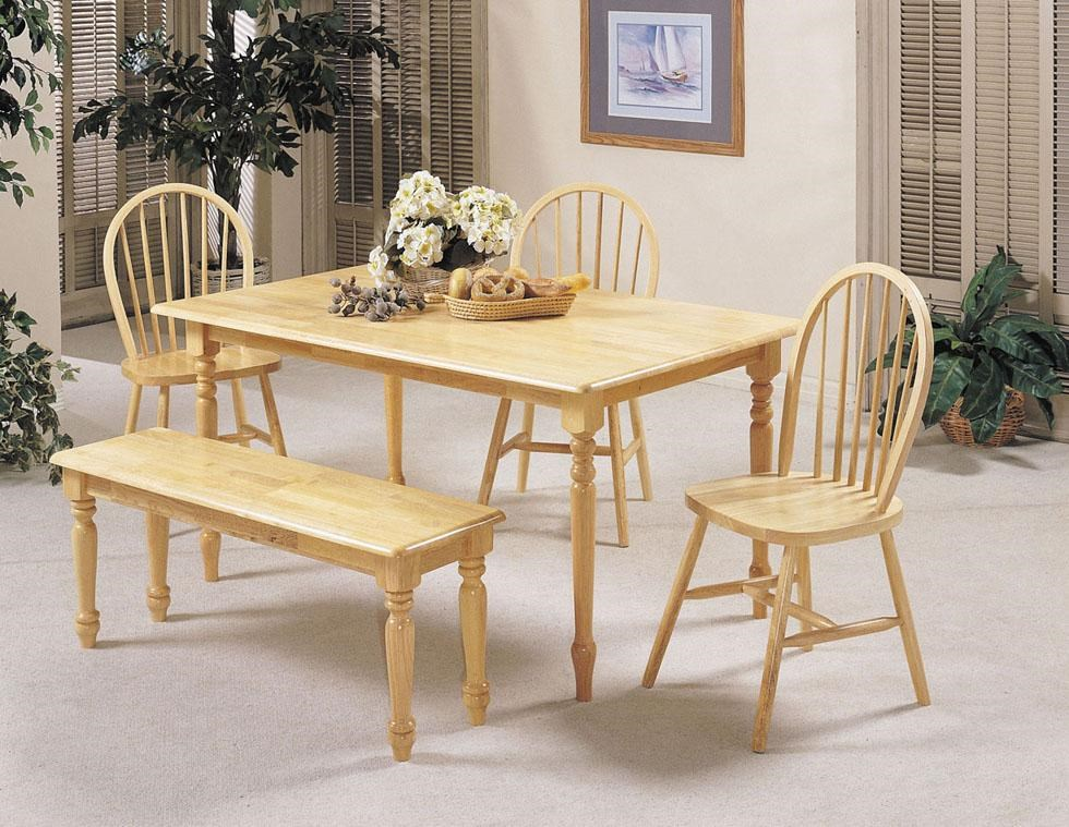 Shown with Spindle Chair and Rectangular Table with Wood Top