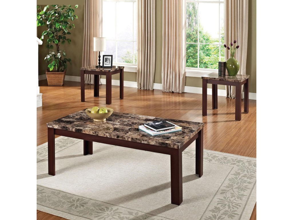 Acme Furniture Finely3-Piece Coffee/End Table Set