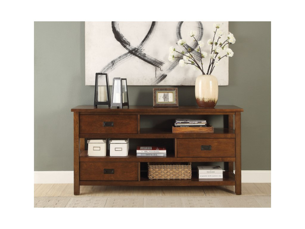 Acme Furniture Fisher Transitional Console Table With Storage