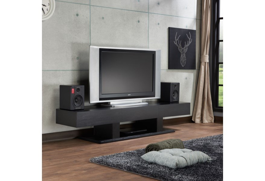 Acme Furniture Follian Contemporary Tv Stand With 3 Drawers Dream Home Interiors Tv Stands