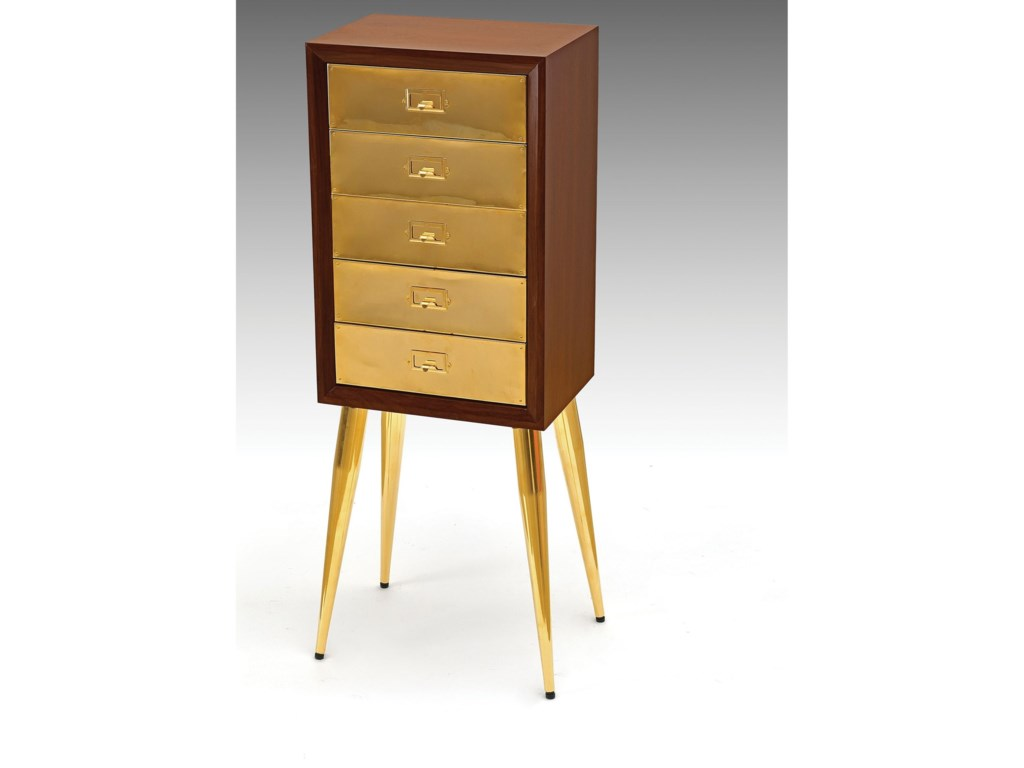 Del Sol Af Gannon 97208 Mid Century Modern Jewelry Armoire