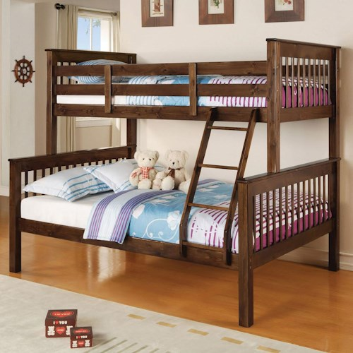 Acme Furniture Haley Twin Over Full Mission Bunkbed Rooms For Less