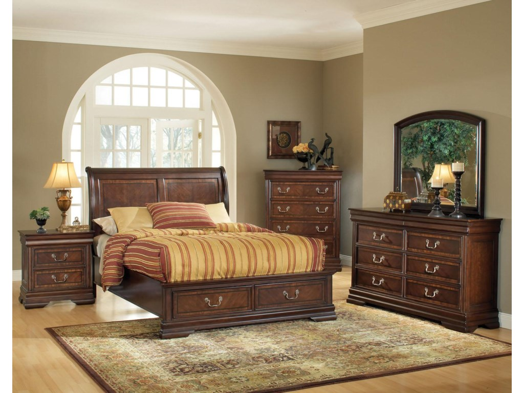Shown with Nightstand, Bed, Chest and Dresser