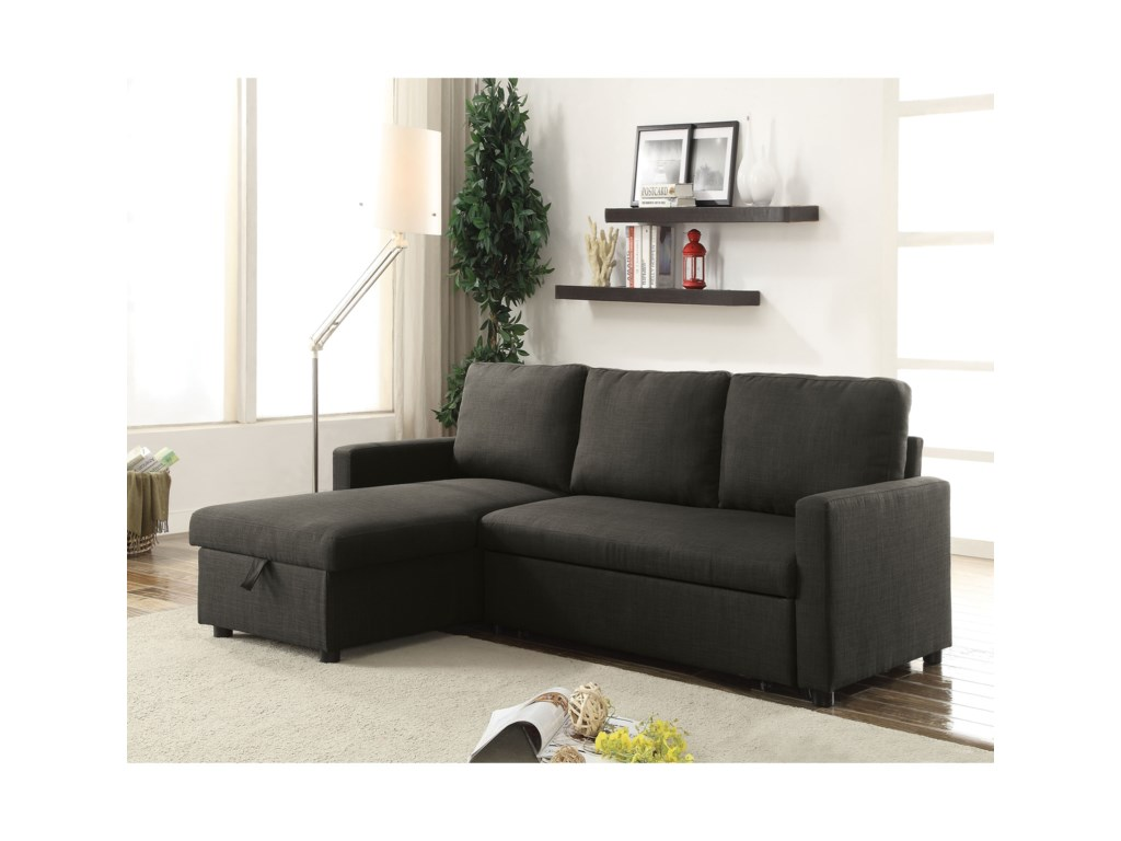 Del Sol AF Hiltons 52300 Contemporary Sectional Sleeper Sofa ...