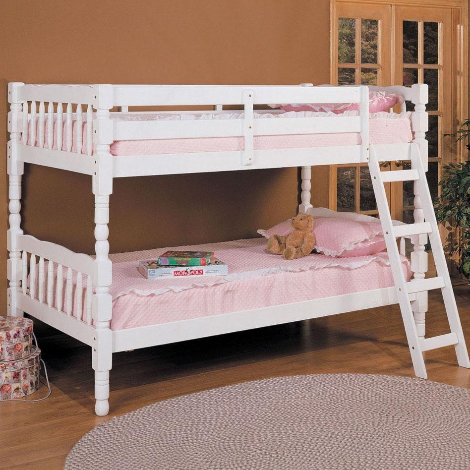 Acme Furniture Homestead 02298 White Twin Size Bunkbed Corner