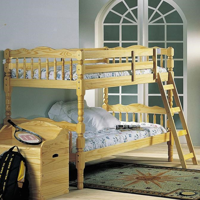Acme Furniture Homestead 02299 Natural Twin Size Bunkbed Corner