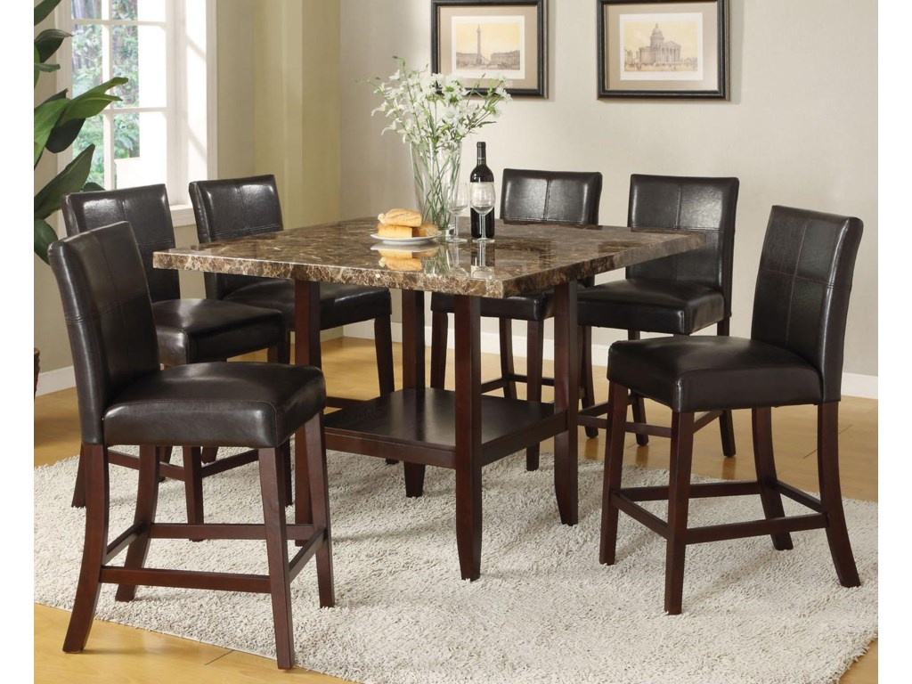 Acme Furniture Idris7 Piece Counter Height Dining Set