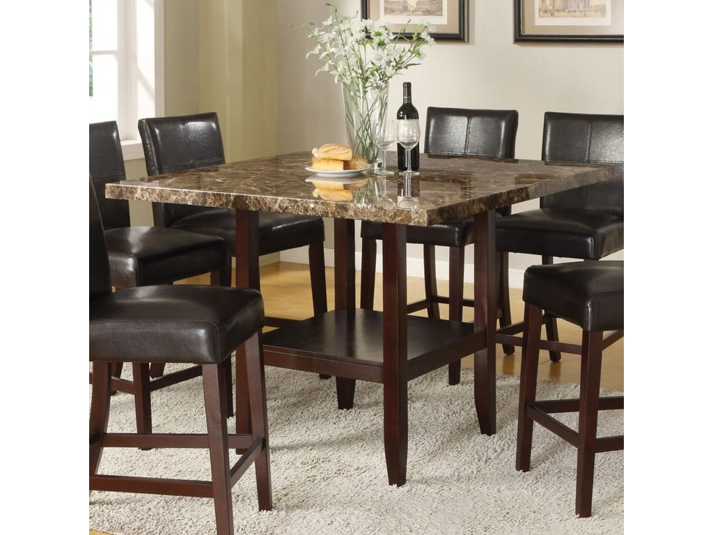 Set Includes Faux Marble Counter Height Pedestal Table