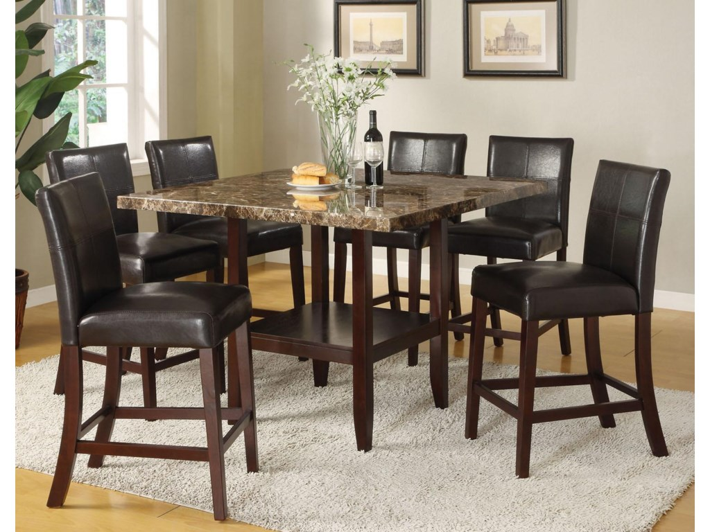 Shown with Counter Height Pedestal Table