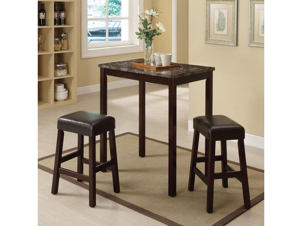 Acme Furniture Idris3-Piece Counter Height Dining Set