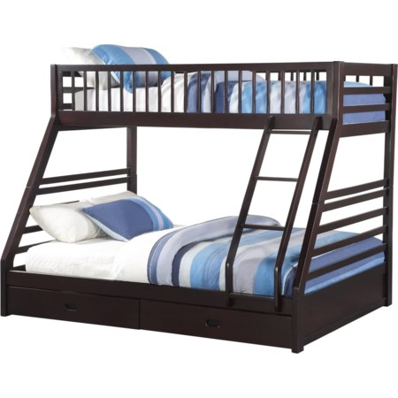 Twin XL/Queen Bunk Bed w/Drw
