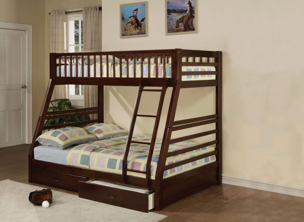 Acme Furniture Jason 02020 Transitional Twin Over Full Bunkbed