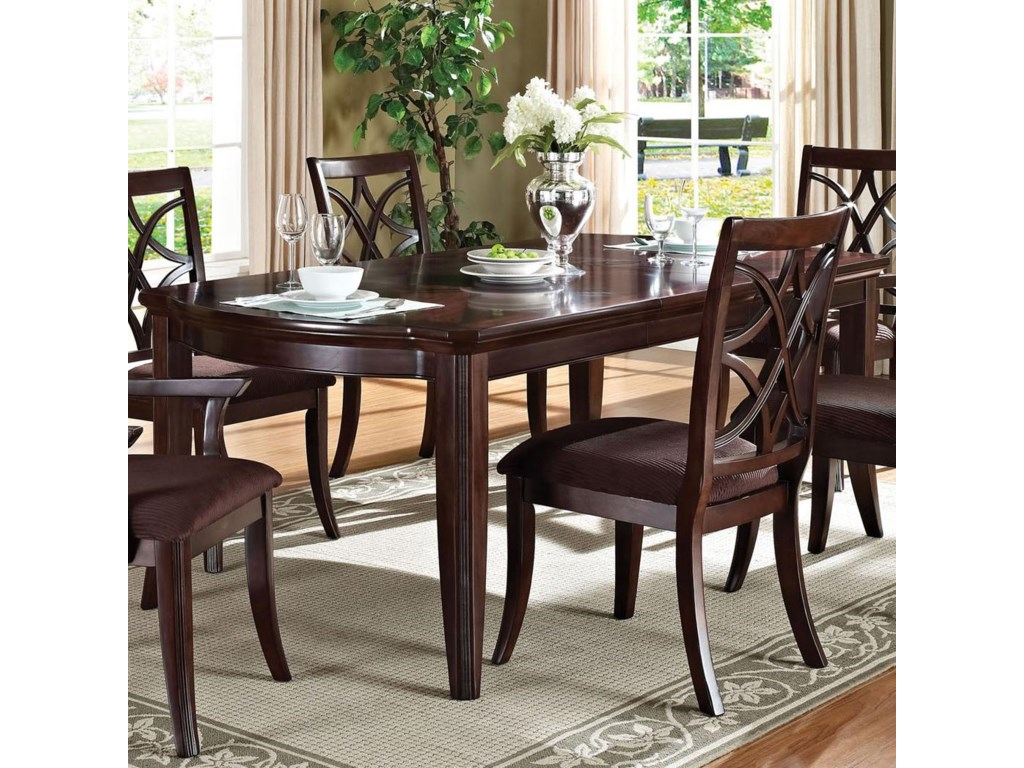 Acme Furniture Keenan Formal Transitional Dining Table - Household ...
