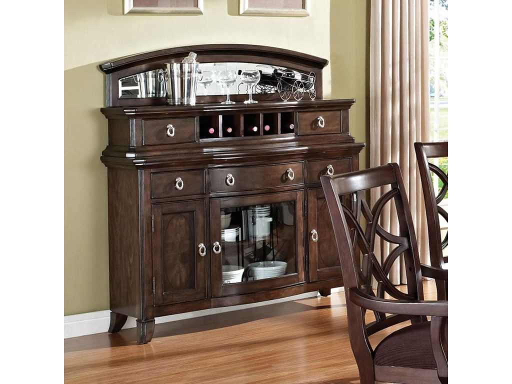 Acme Furniture Keenan Transitional Dining Server with Wine Rack ...