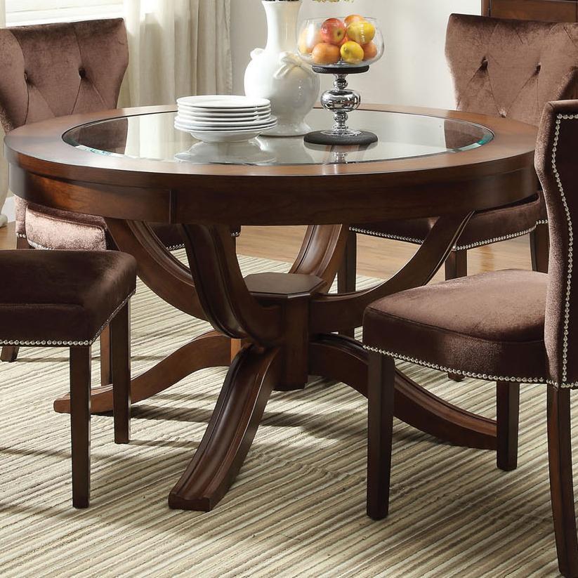Acme Furniture KingstonRound Formal Dining Table ...