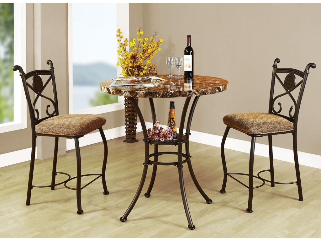 Kleef 3-Piece Counter Height Dining Set by Acme Furniture at Rooms for Less