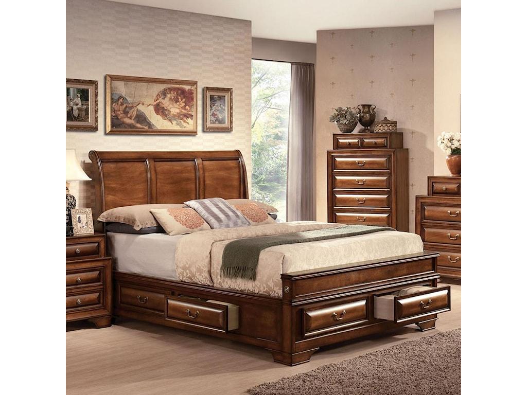 Konane Traditional Sleigh Queen Bed