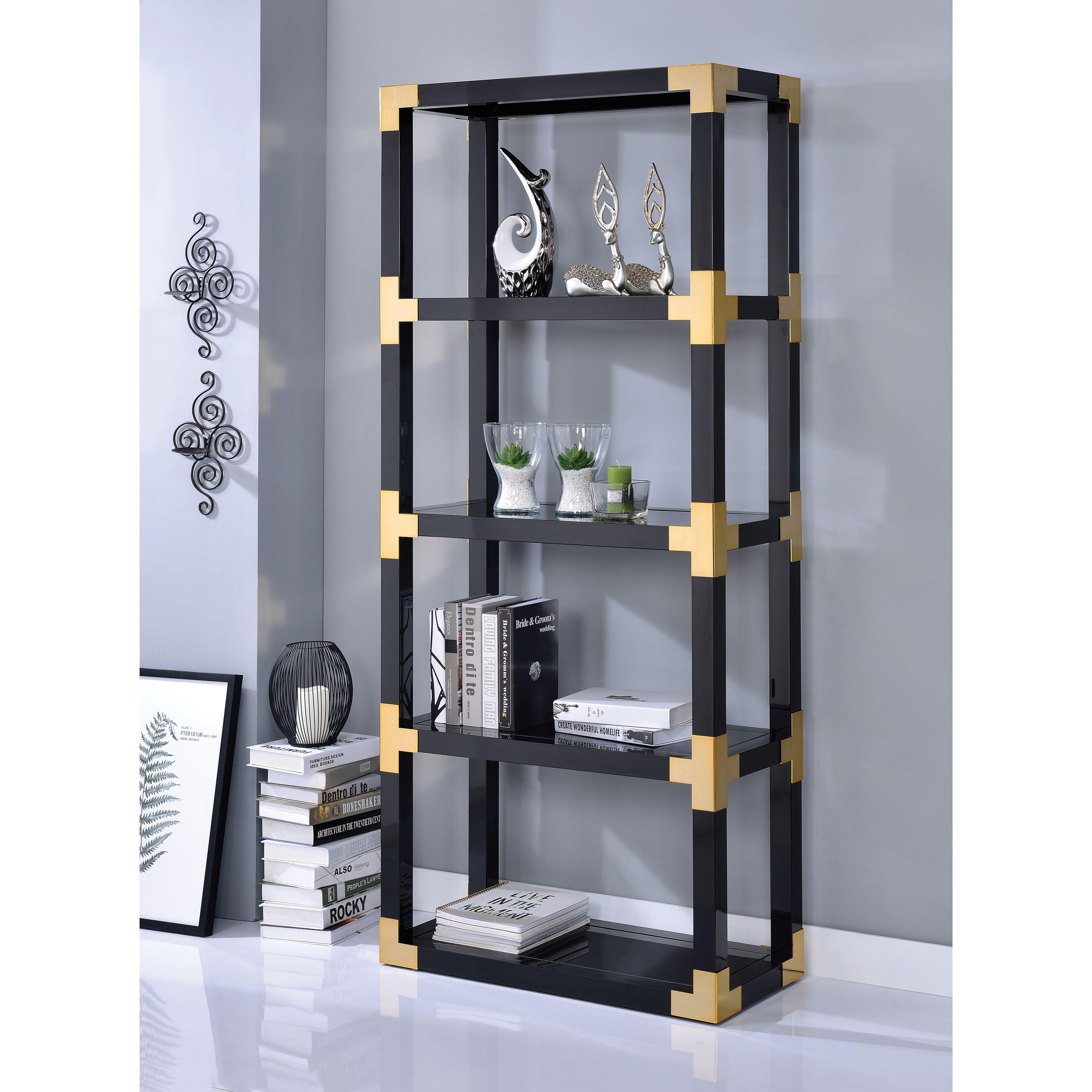 Modern Bookshelf with Glass Shelves