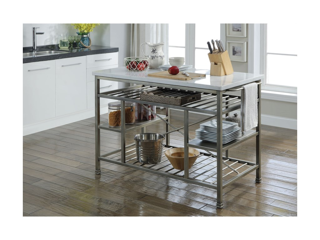 Acme Furniture Lanzo 98402 Counter Height Kitchen Island ...