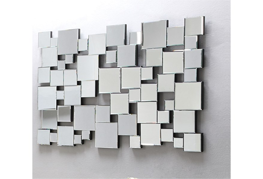 Acme Furniture Lela Contemporary Square Collage Accent Wall Mirror Dream Home Interiors Wall Mirrors