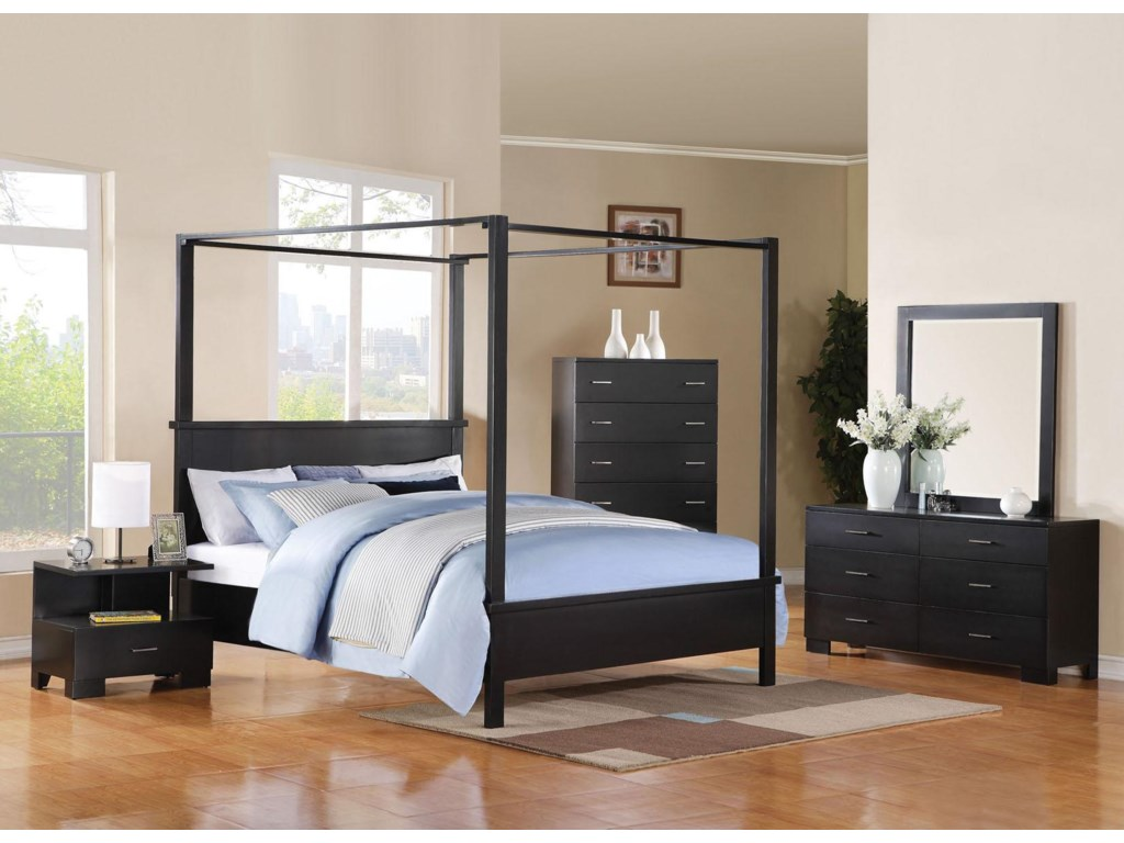 Shown with Nightstand, Bed, Chest, and Mirror