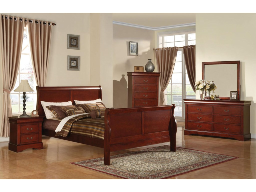 e1a7e5407c7c6 Acme Furniture Louis Philippe III Transtional Queen Bedroom Group ...