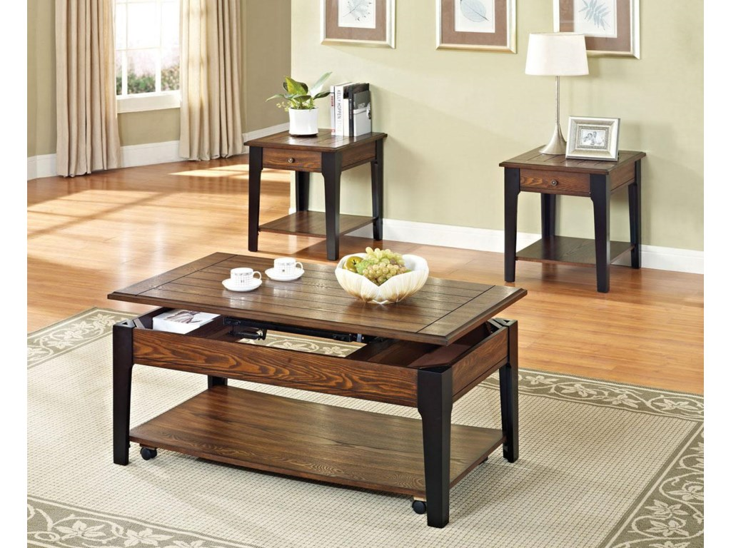 Shown with Top Lifted and End Table