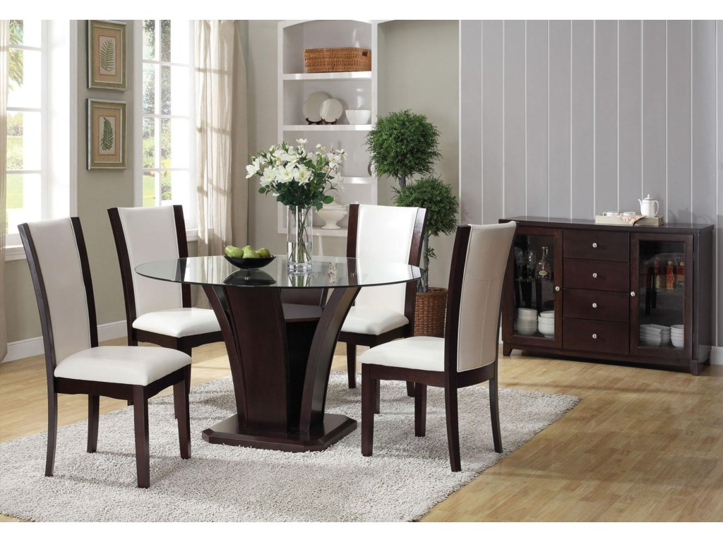 Shown with Round Dining Table and Server