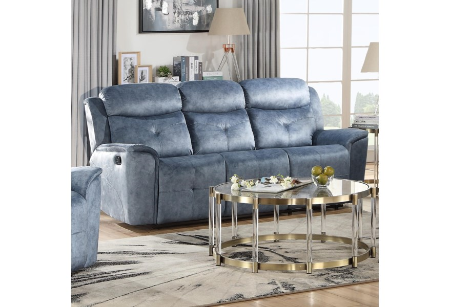 Acme Furniture Mariana 55035 Contemporary Motion Sofa With External Latch Handle | Del Sol Furniture | Reclining Sofas