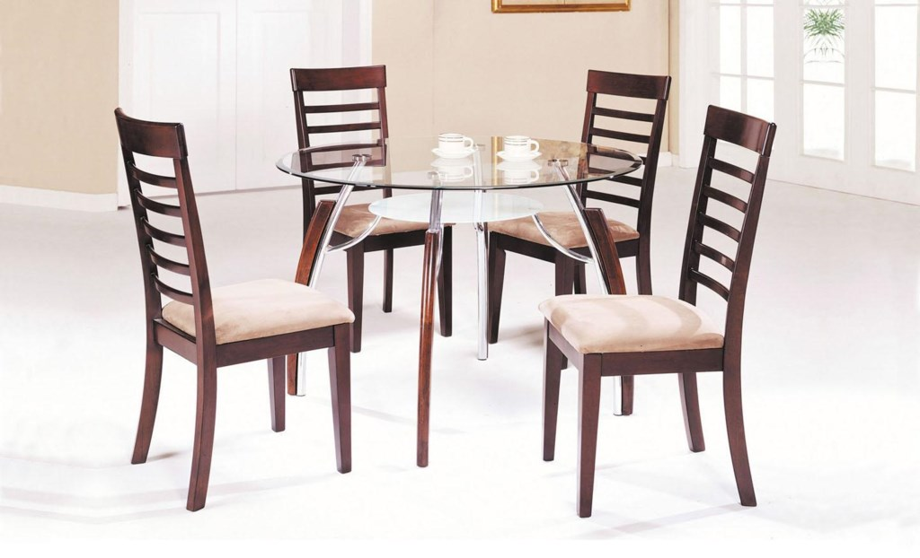 Acme Furniture Martini Contemporary 5 Piece Table And Chair Set