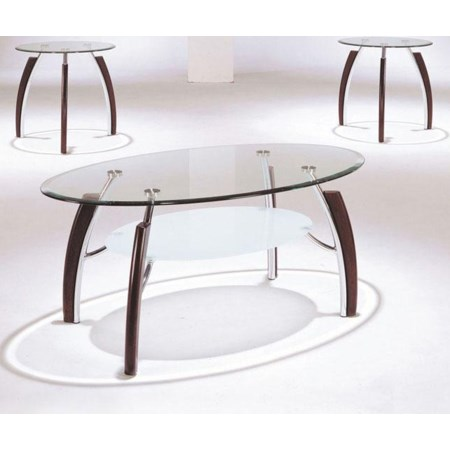 3 Piece C/E Table Set