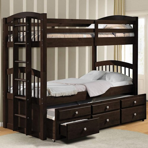 Acme Furniture Micah Twin Bunk Bed W Trundle And Drawer Storage Dream Home Furniture Bunk