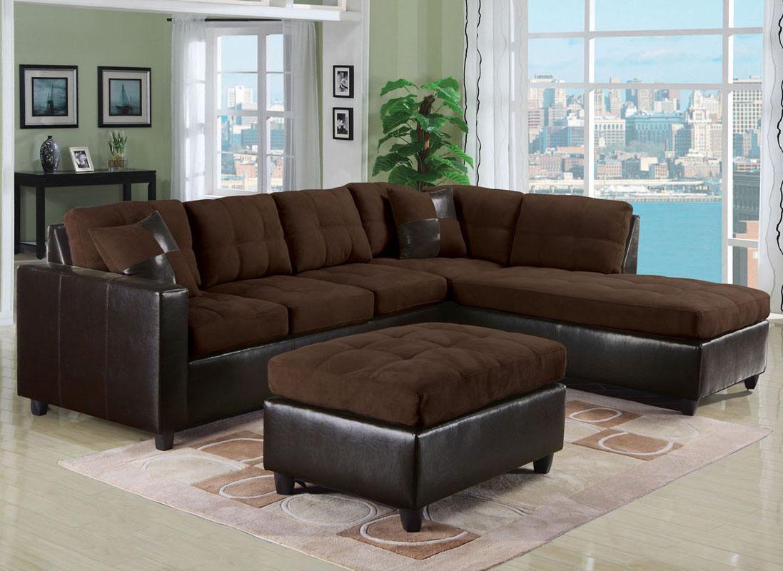Gentil Acme Furniture Milano Chocolate2 Piece Sectional Sofa W/ L